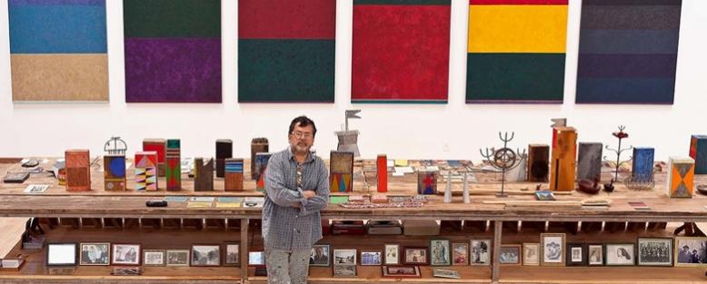 Gonçalo Ivo dans son atelier, Brésil, 2014